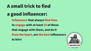 influencer marketing selection